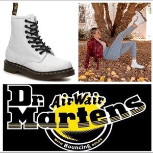 New Dr Martens White Leather 1460 Combat Boots